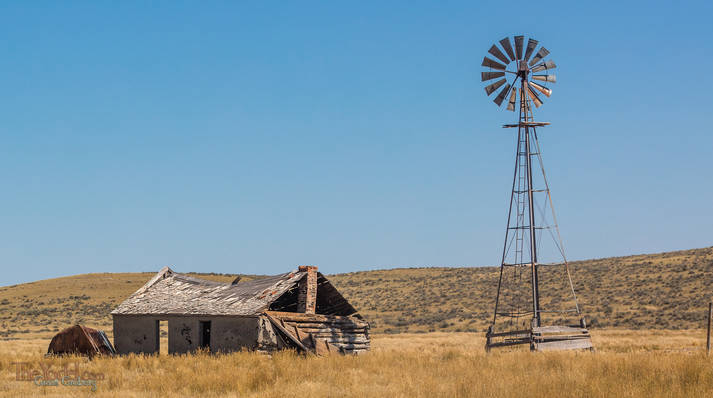 Windmill & Wrecked building