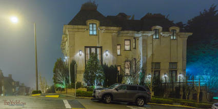 Pacific Heights House at Night