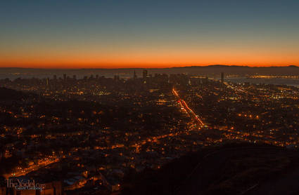 Downtown San Francisco Before Sunrise