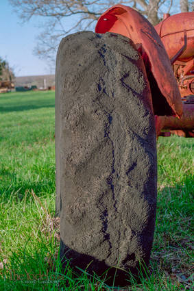 Worn Tractor Tire